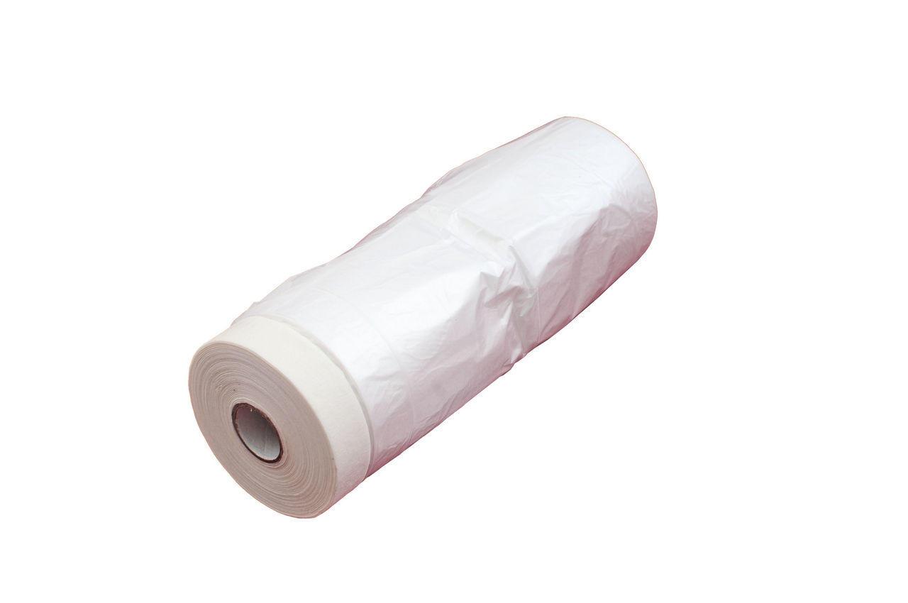 Пленка защитная с малярной лентой Intertool - 0,55 х 30 м