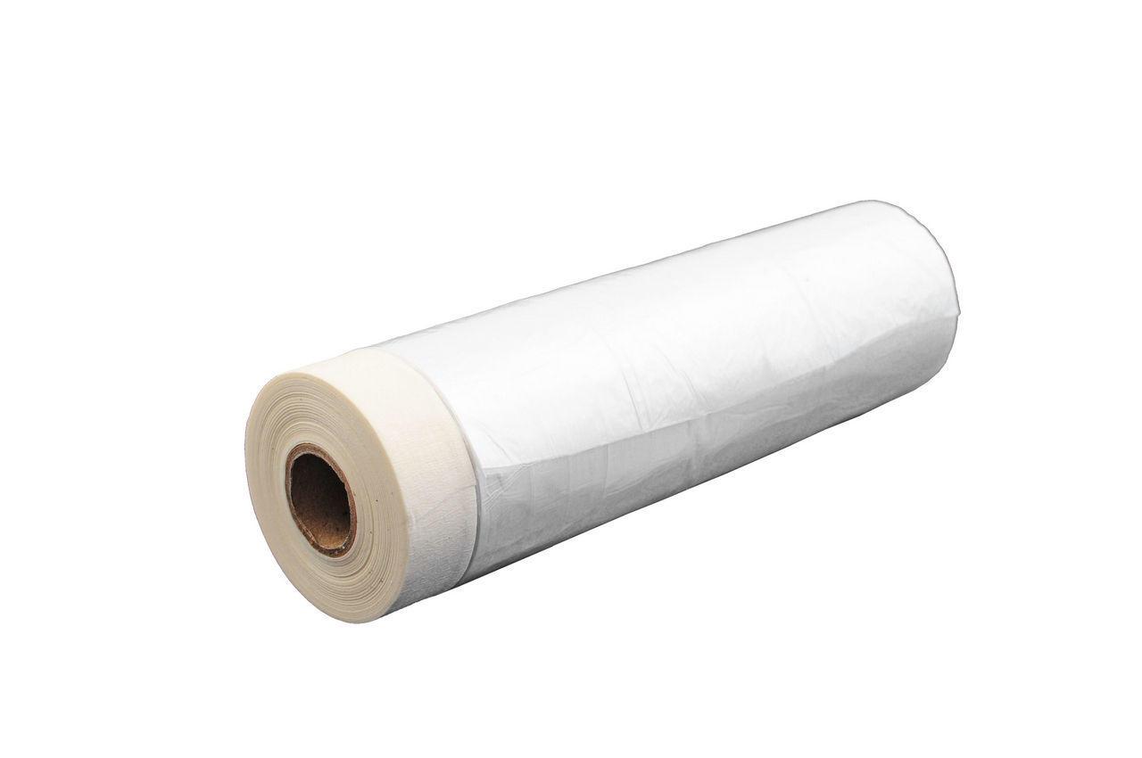 Пленка защитная с малярной лентой Mastertool - 0,55 х 20 м