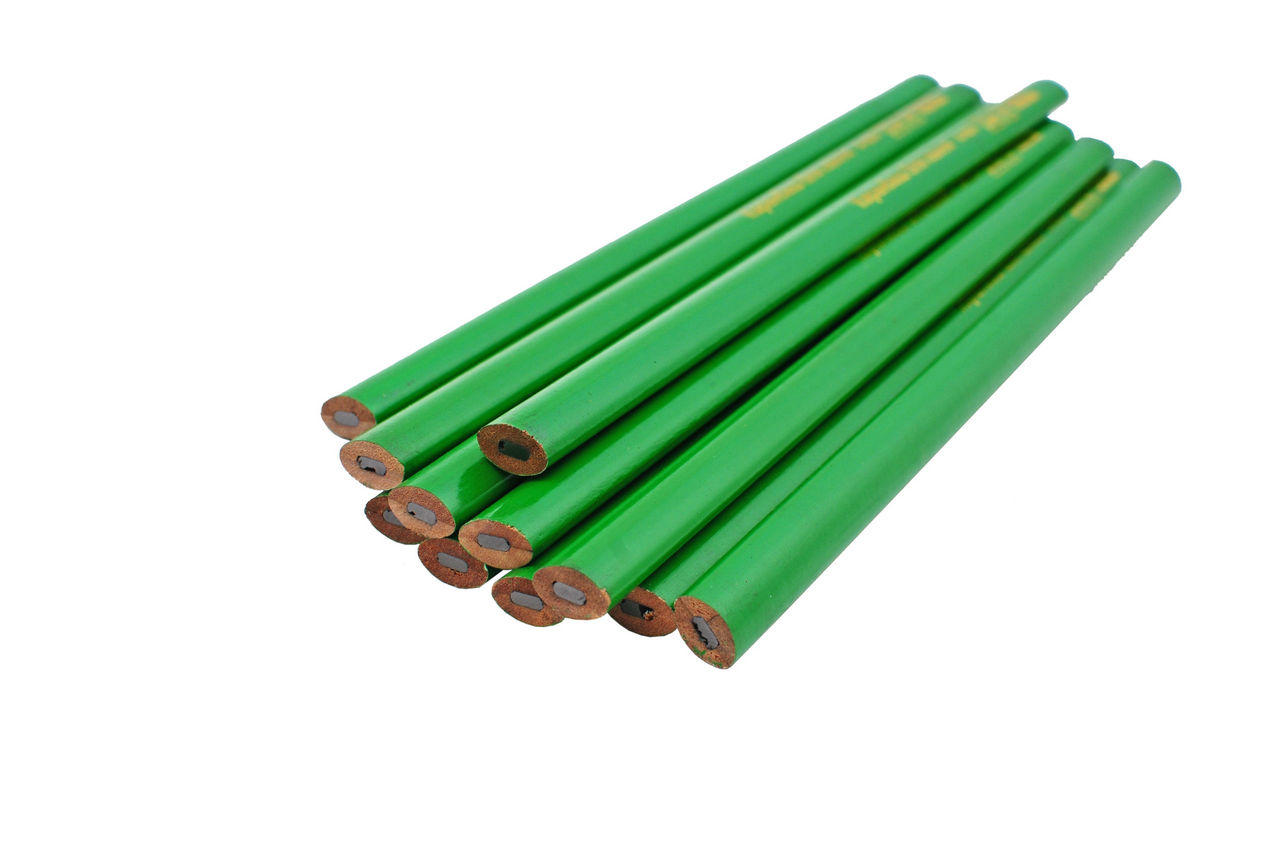 Карандаш Mastertool - по камню 250 мм (12 шт.) зеленый