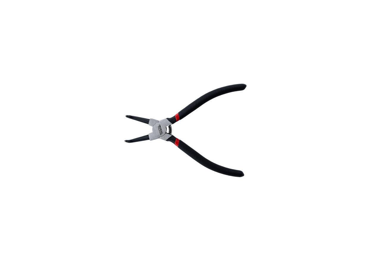Щипцы для стопорных колец Mastertool - 175 мм, изогнутые-cжим