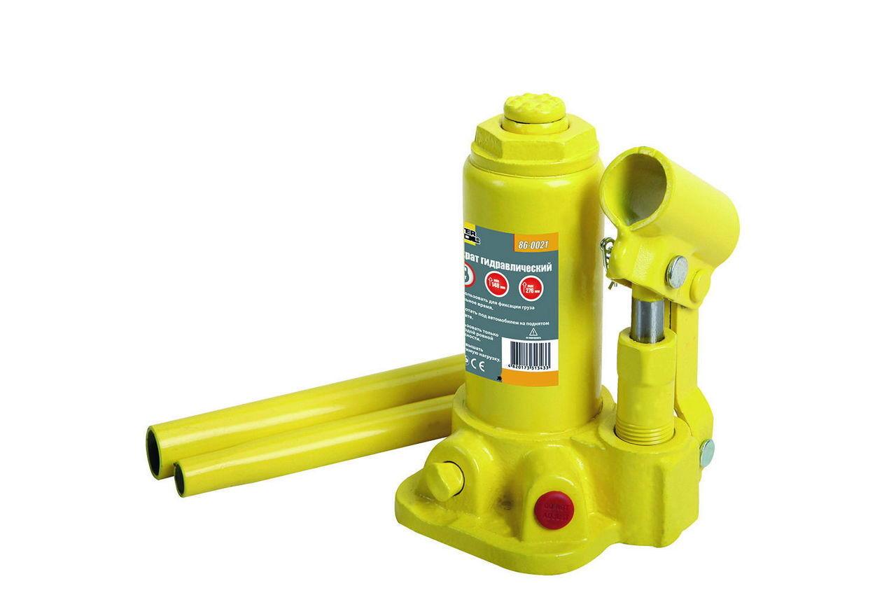 Домкрат гидравлический Mastertool 2 т х 276 мм, одноштоковый