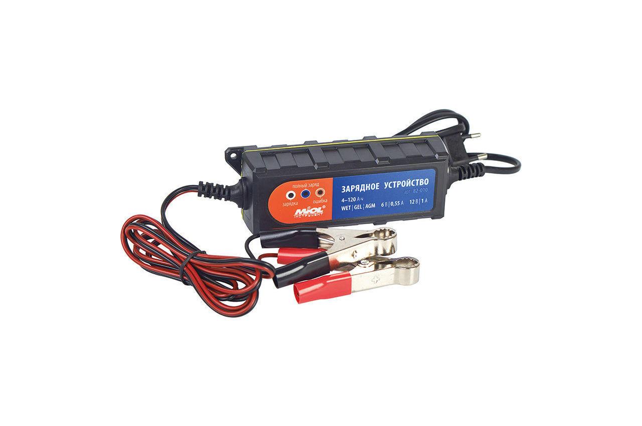 Зарядное устройство Miol - 6 - 12 В, 1 А, 82-010