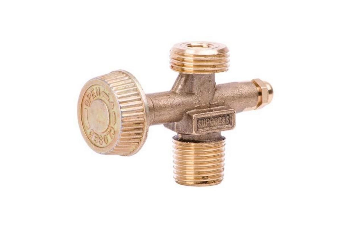 Вентиль газа Intertool - для плиты турист, газовых баллонов и горелок (W21,8 - 14LH x W19,8 - 14DIN4