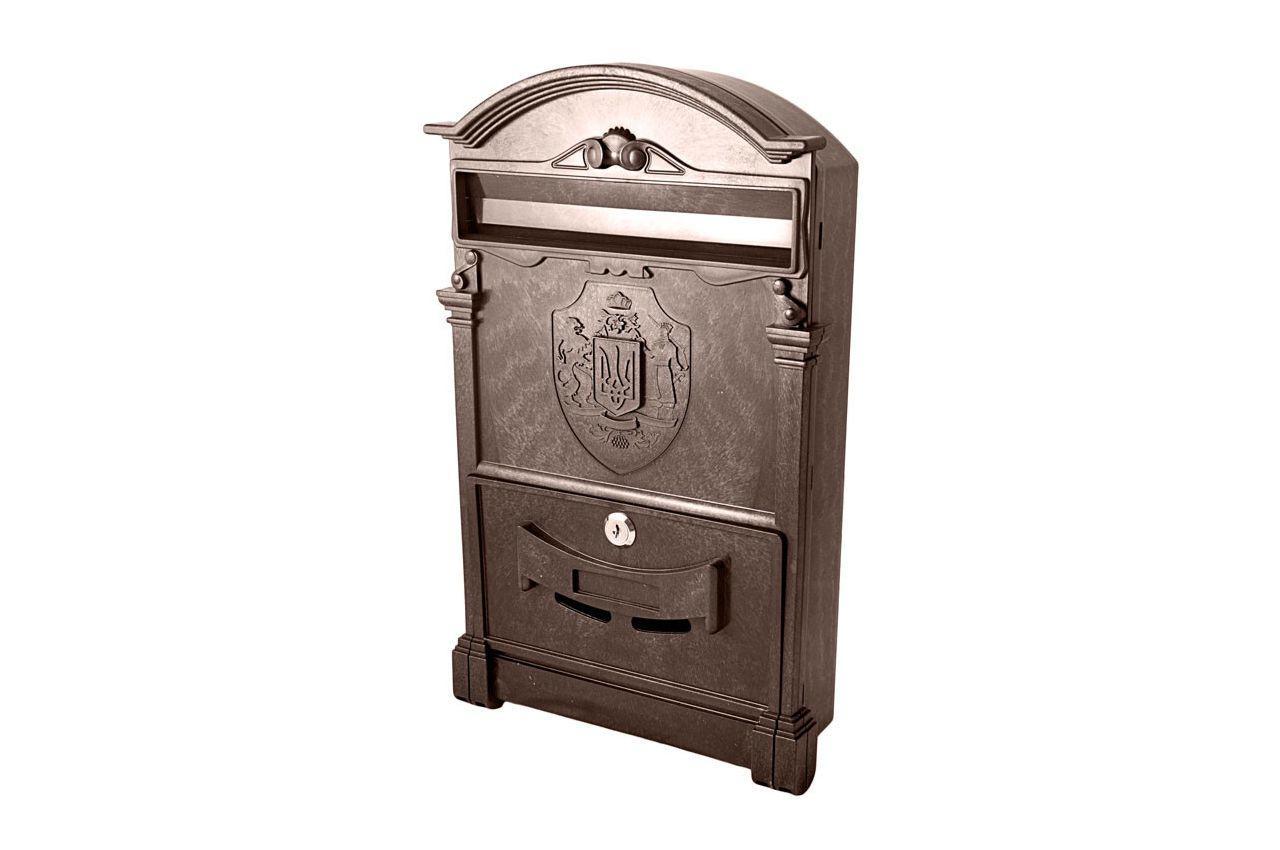 Почтовый ящик Vita - герб Украины (коричневый), PO-0016