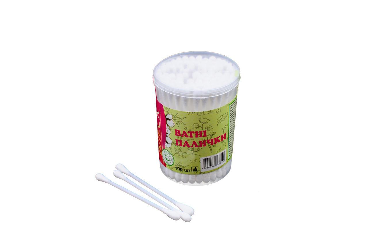 Ватные палочки Блеск - пластиковые (100 шт.) 12 шт.