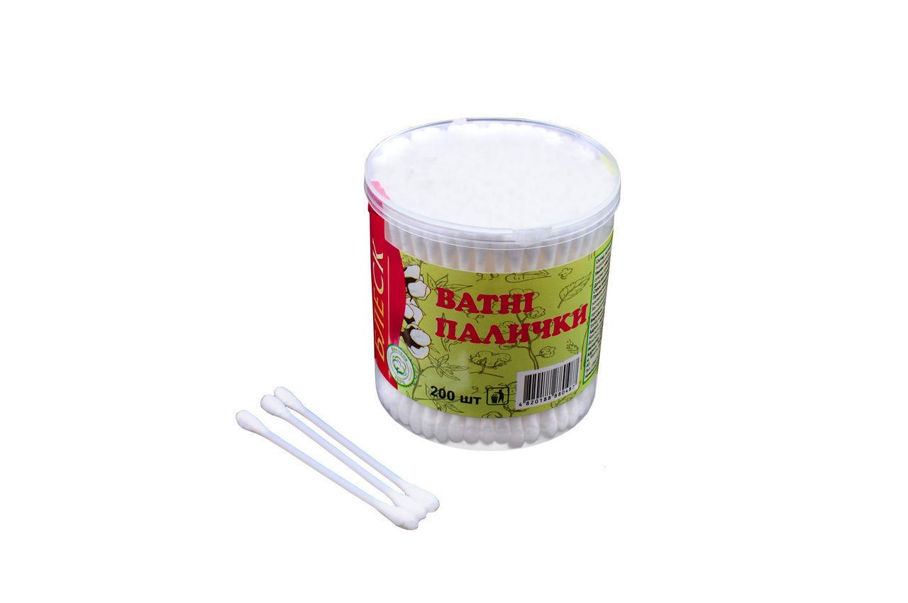 Ватные палочки Блеск - пластиковые (200 шт.) 6 шт.