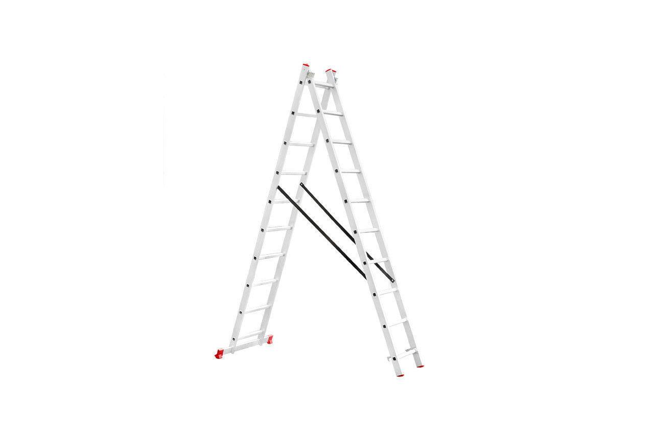 Лестница 2-х раскладная Intertool - 4810 мм х 2x10 ступеней