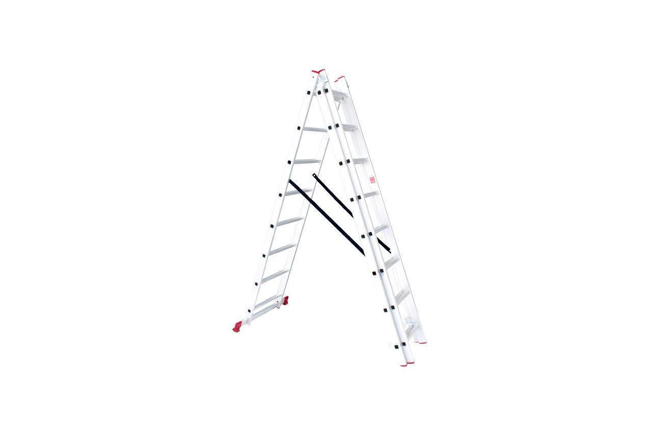 Лестница 3-х раскладная Intertool - 5087 мм х 3x8 ступеней