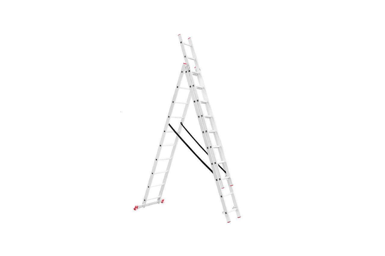Лестница 3-х раскладная Intertool - 6766 мм х 3x10 ступеней