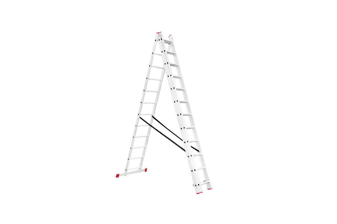 Лестница 3-х раскладная Intertool - 7887 мм х 3x12 ступеней
