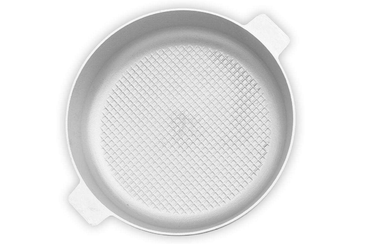 Сковорода алюминиевая Биол - 300 х 104 мм, с рифленым дном и крышкой (2 ручки)