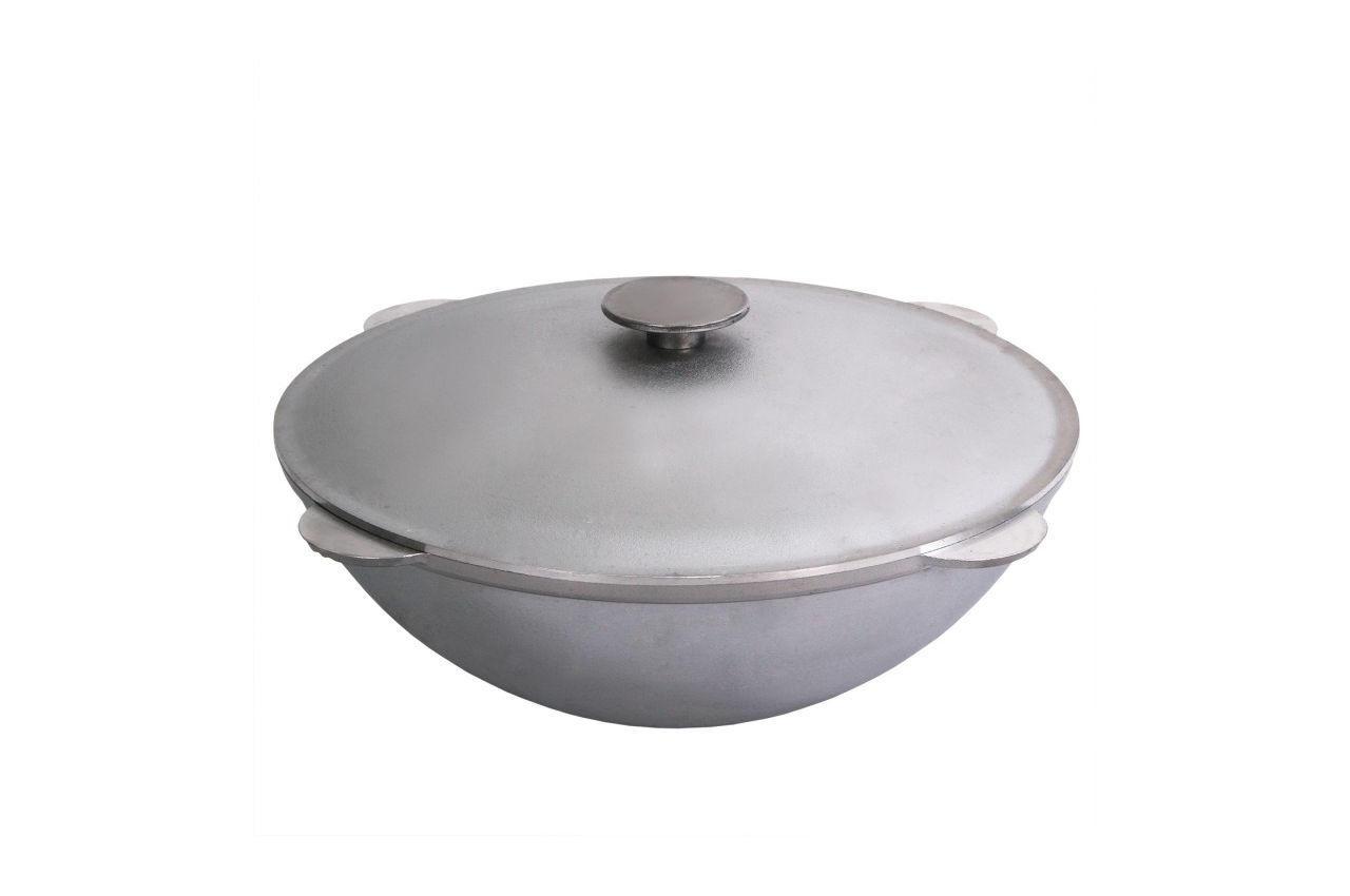 Казан алюминиевый Биол - 400 х 195 мм х 12 л, татарский с крышкой