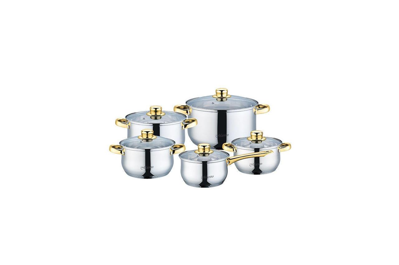 Набор посуды нержавеющий Maestro - 1,5 х 2 х 3 х 5 + 1,5 л (5 шт.) MR-2006