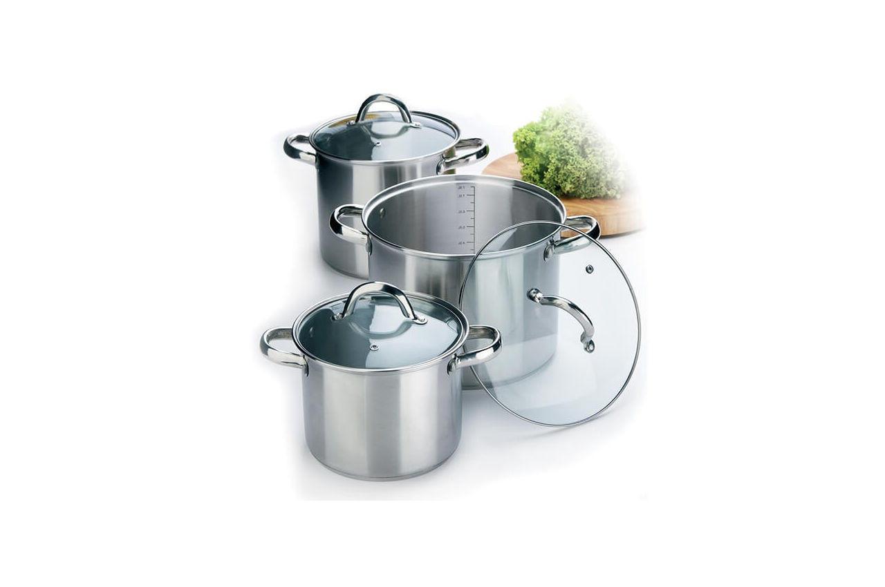 Набор посуды нержавеющий Maestro - 3,5 х 4,5 х 8 л, (3 шт.) MR-2023
