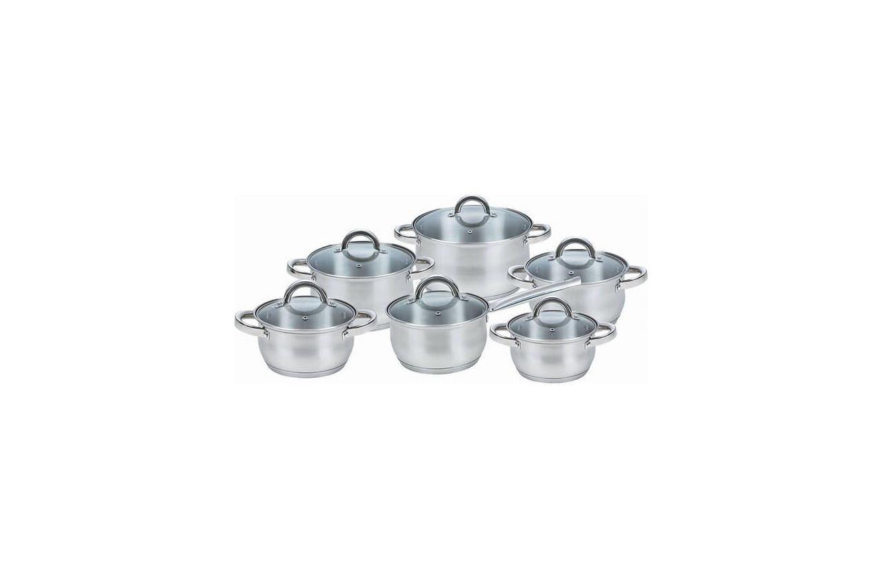 Набор посуды нержавеющий Maestro - 1,5 х 2 х 2 х 3 х 5 х 1,5 л, (6 шт.) MR-2120