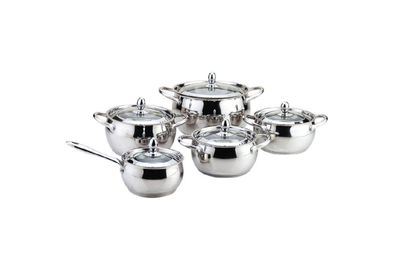 Набор посуды нержавеющий Maestro - 2 х 2 х 3 х 5 х 1,5 л, (5 шт.) MR-3509