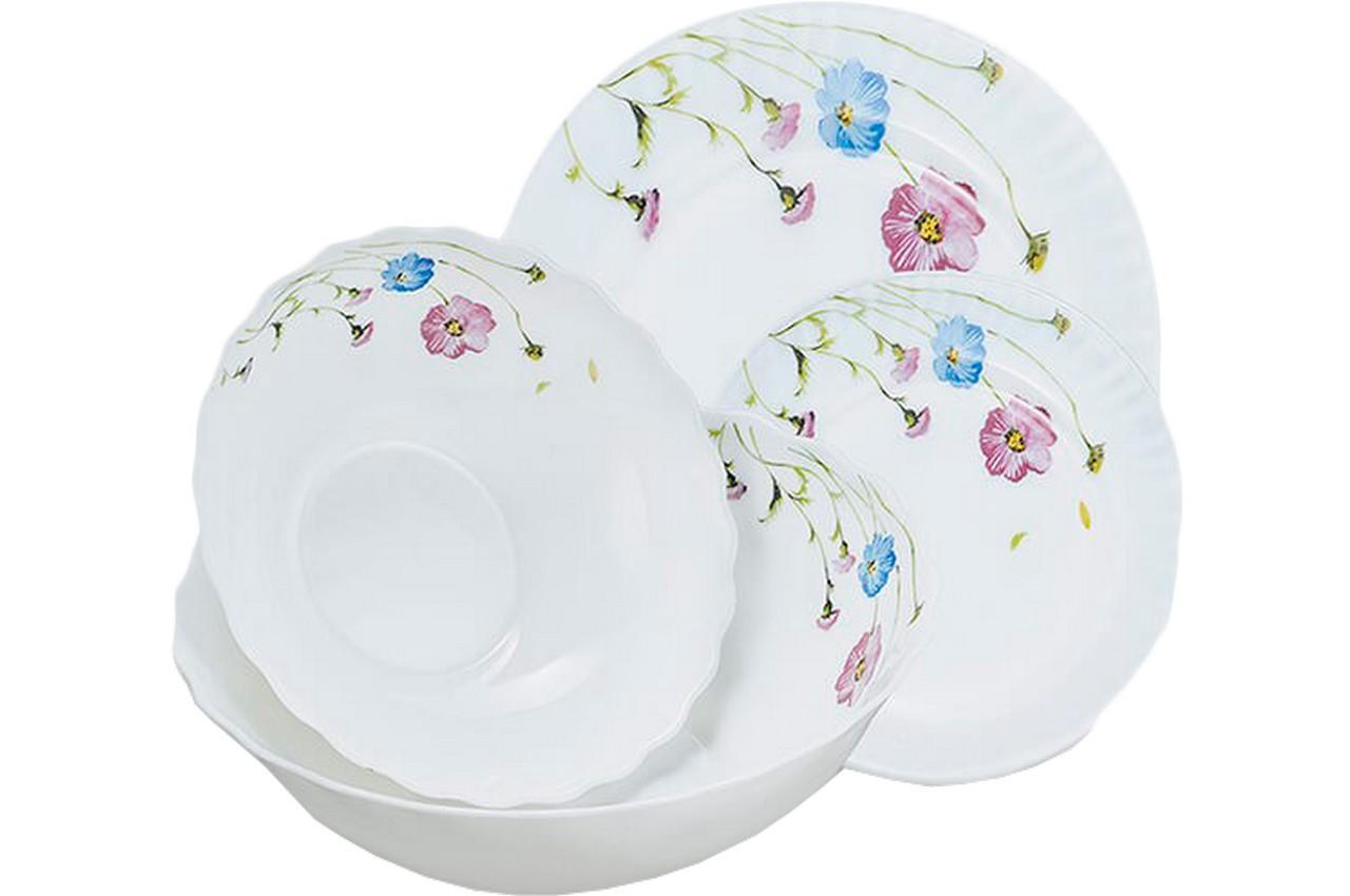 """Набор посуды жар-стекло Maestro - 19 ед. """"васильки"""" MR-30066-19S, MR-30066-19S"""