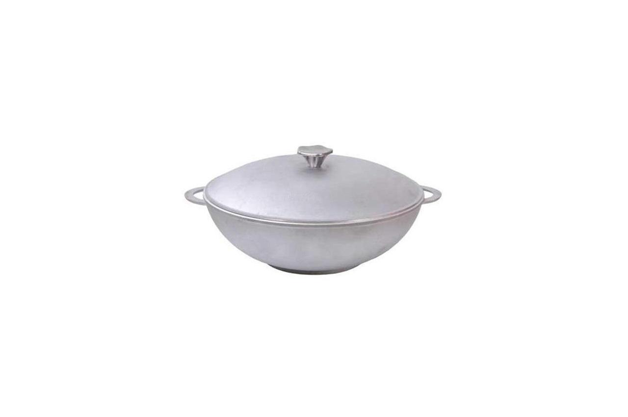"""Сковорода алюминиевая Биол - 280 x 100 мм x 4 л """"wok"""" с литыми ручками и крышкой"""