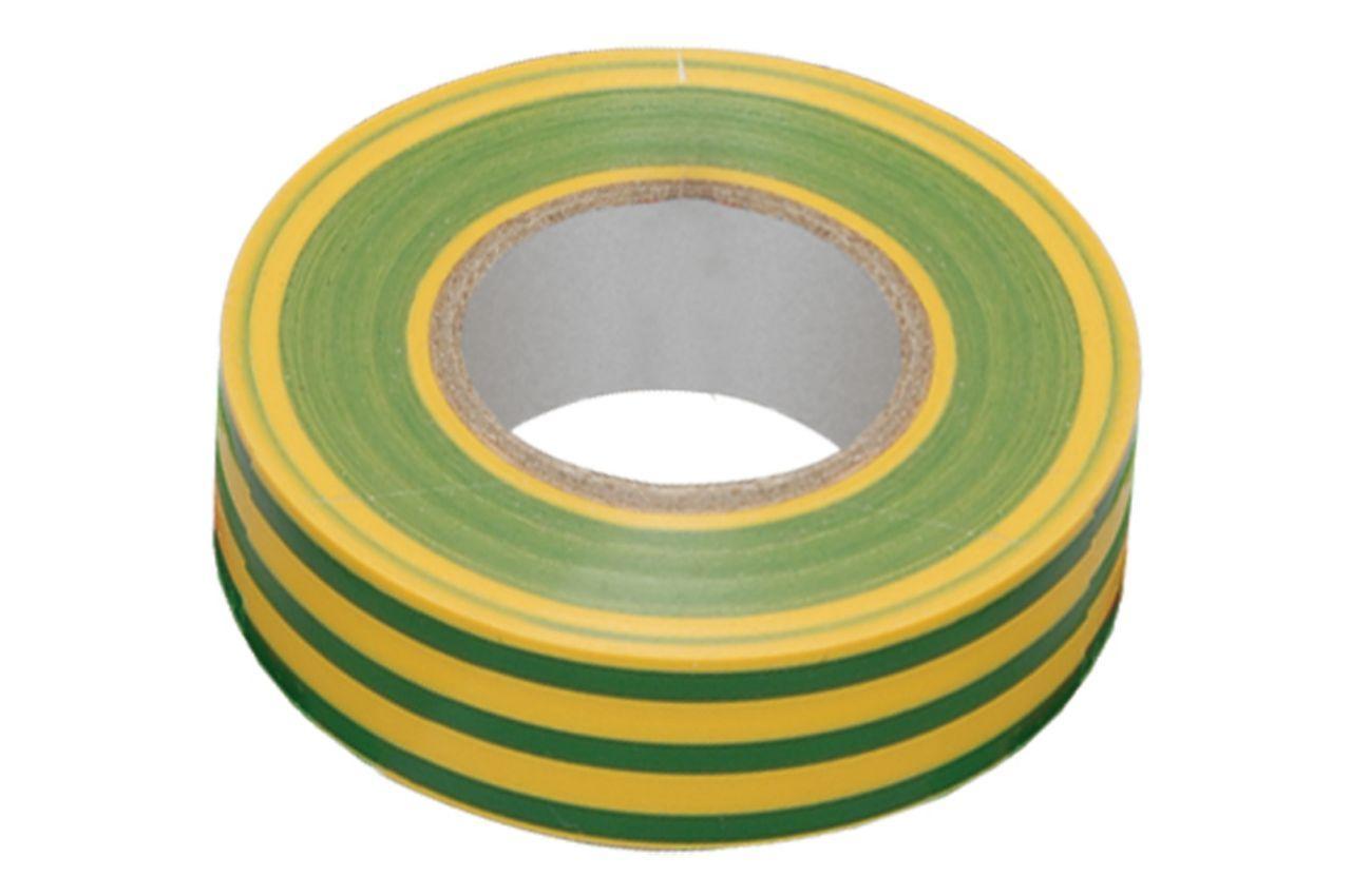 Лента изоляционная Apro - 10 м x 17 x 0,14 мм, желто-зеленая 10 шт.