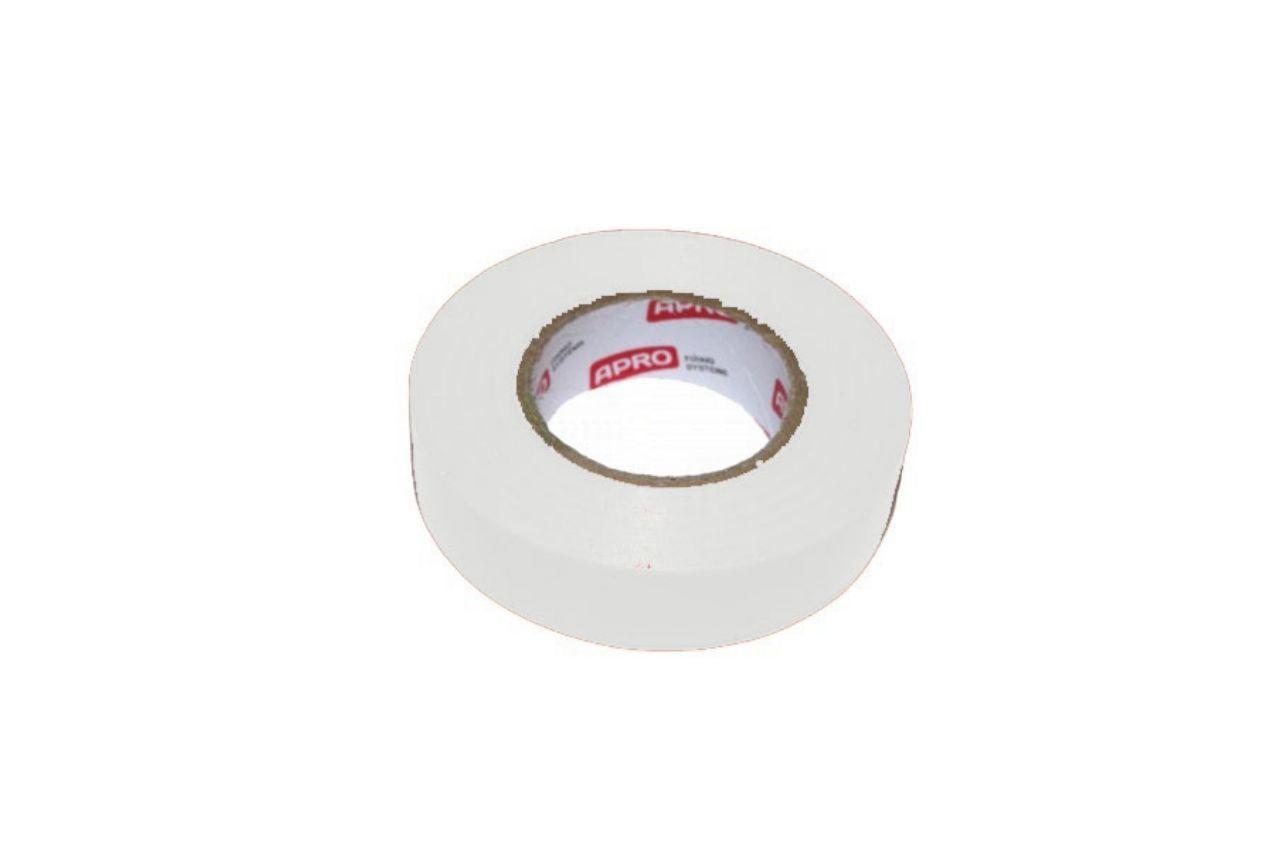Лента изоляционная Apro - 10 м x 17 x 0,14 мм, белая 10 шт.