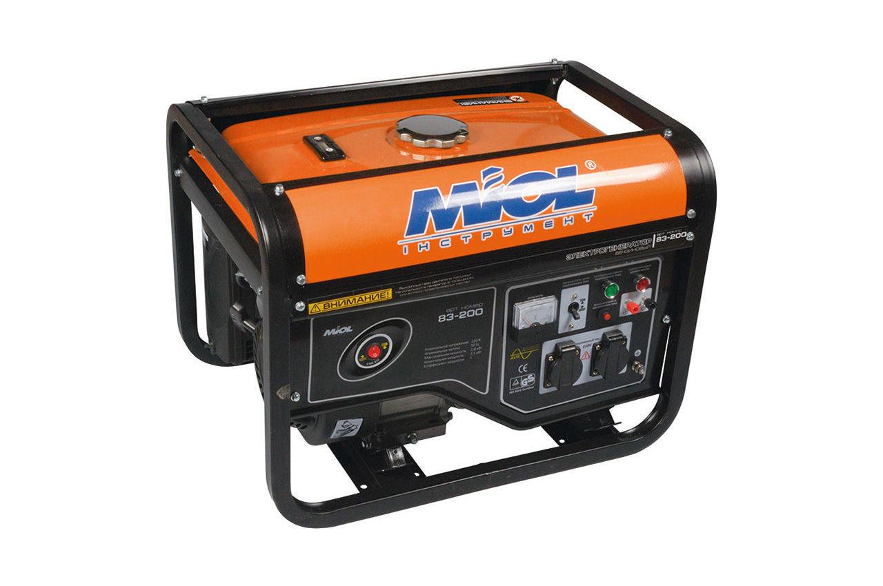 Генератор бензиновый Miol - 83-250, 83-250