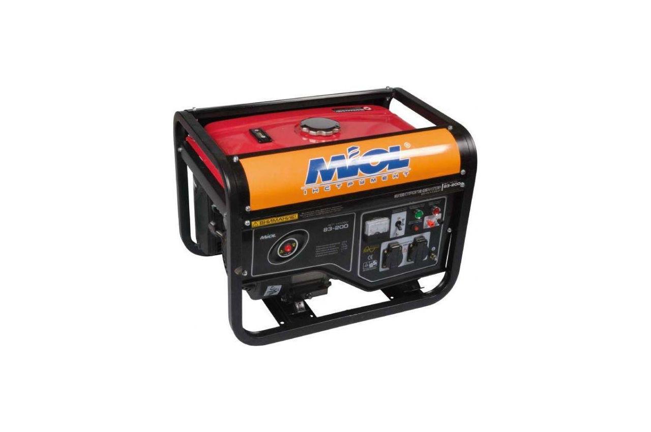 Генератор бензиновый Miol - 83-200, 83-200
