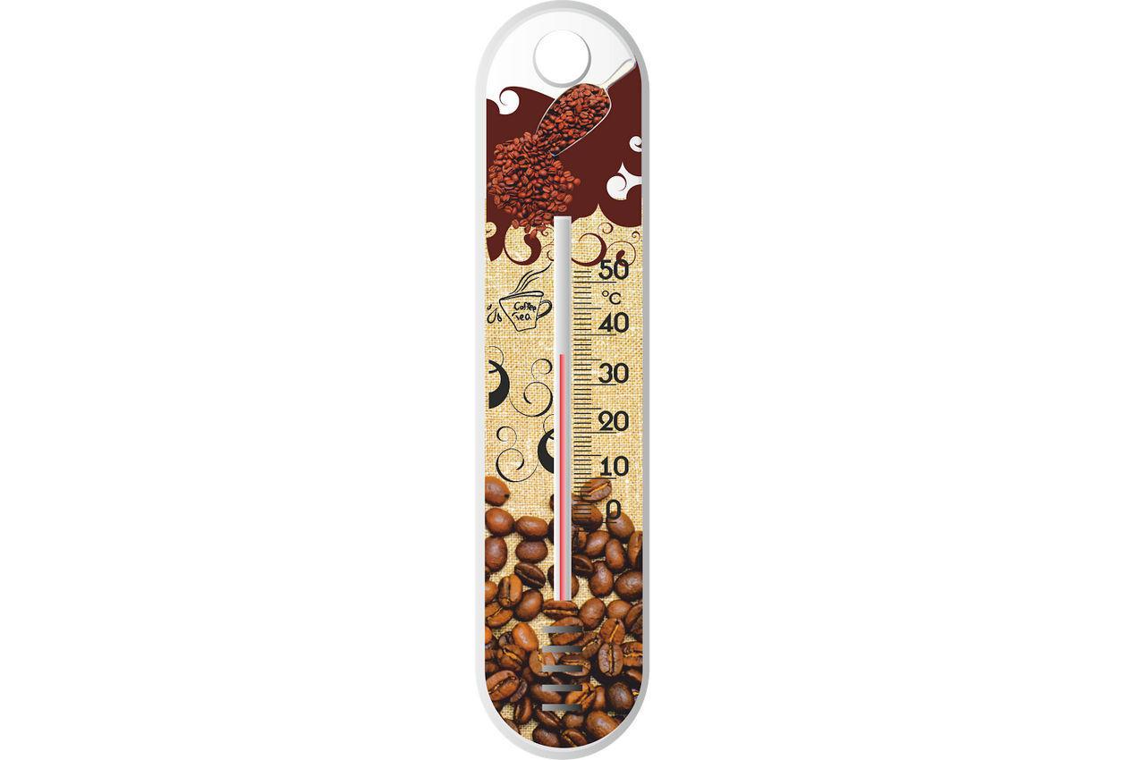 """Термометр комнатный Стеклоприбор - (0/+50°C) П-1 """"кофе"""", 300185"""