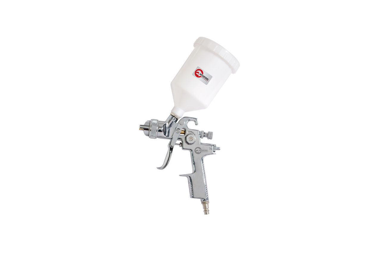 Пневмопистолет лакокрасочный HVLP Intertool - верхний бак 600 мл x 1,4 мм PT-0103