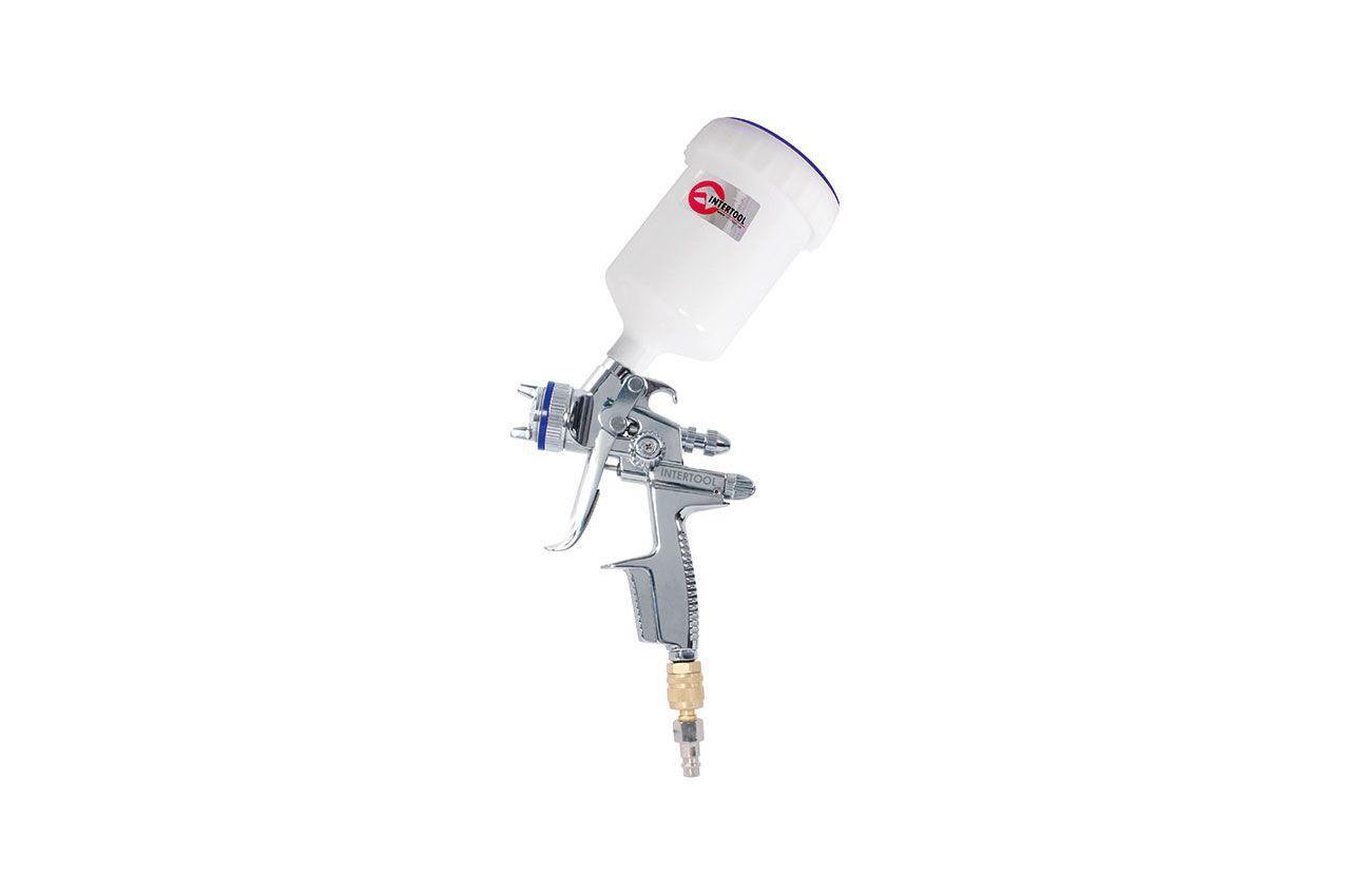Пневмопистолет лакокрасочный HVLP-II Intertool - верхний бак 600 мл x 1,3 мм PT-0105