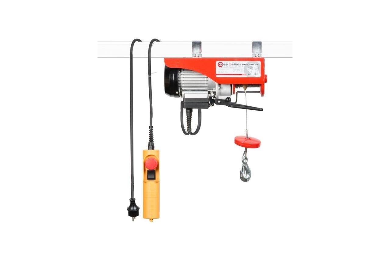 Тельфер (лебедка электрическая) Intertool - 125/250 кг, x 6/12 м, GT1481