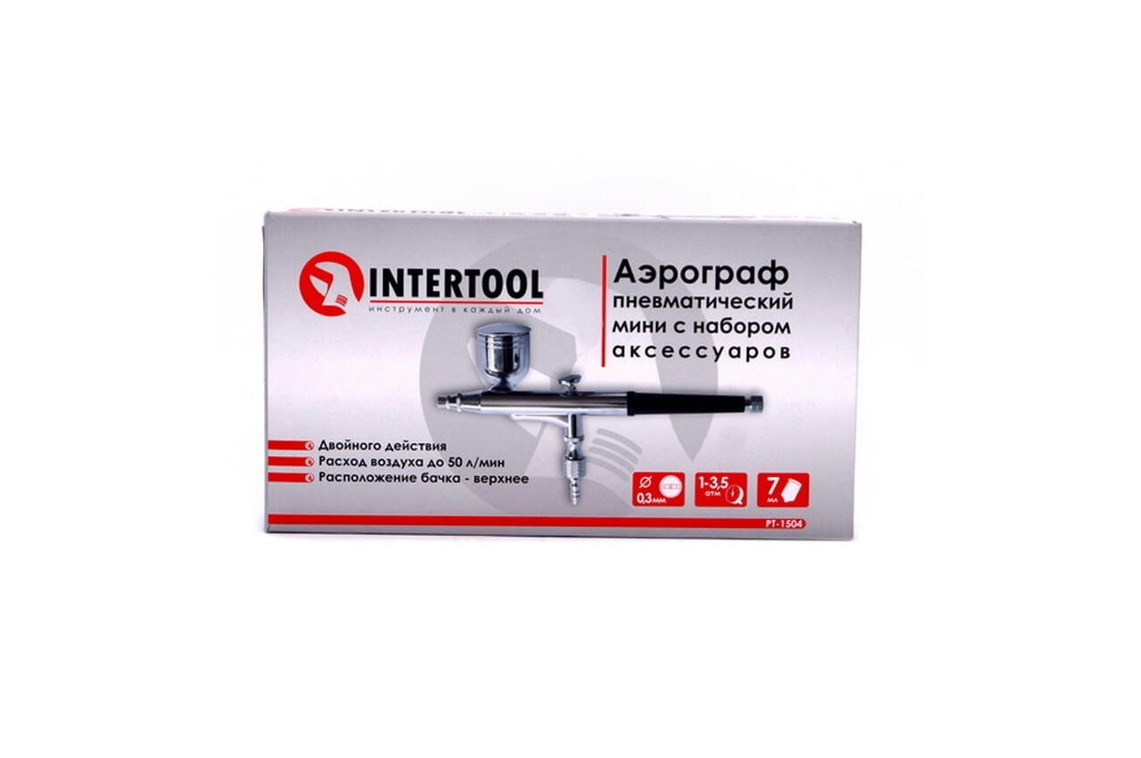 Аэрограф Intertool - верхний бак 7 мл x 0,3 мм