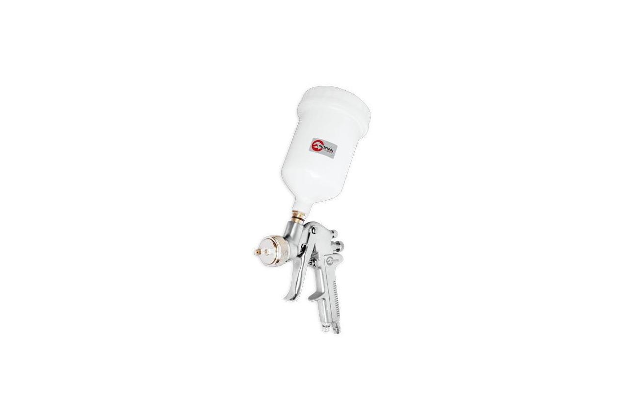 Пневмопистолет лакокрасочный HP Intertool - верхний бак 600 мл x 1,4 мм PT-0112