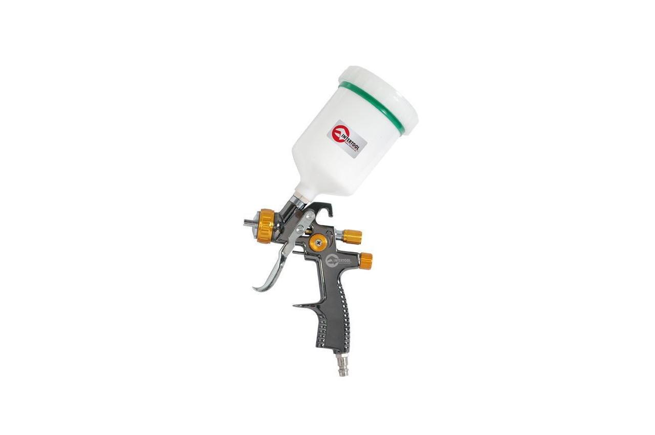 Пневмопистолет лакокрасочный LVLP Intertool - верхний бак 600 мл x 1,8 мм PT-0136