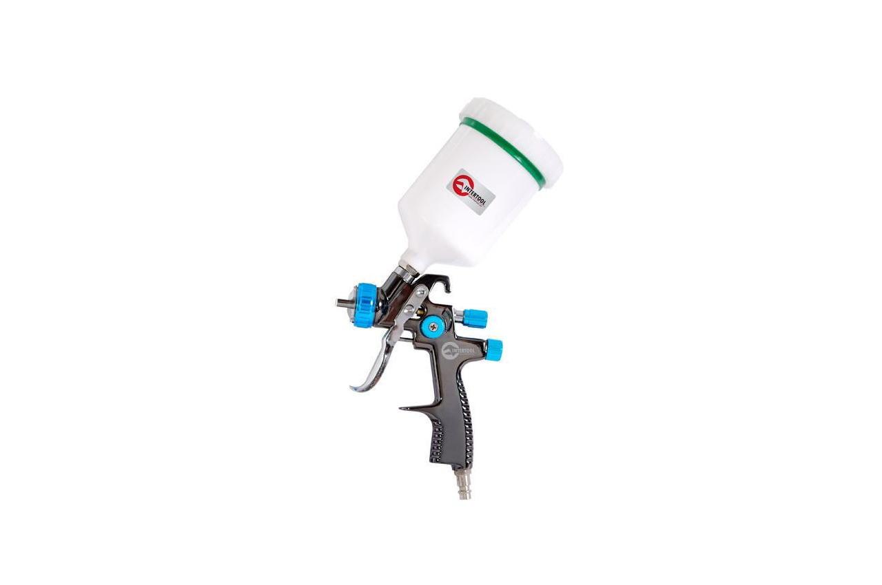 Пневмопистолет лакокрасочный LVLP Intertool - верхний бак 600 мл x 1,4 мм PT-0134