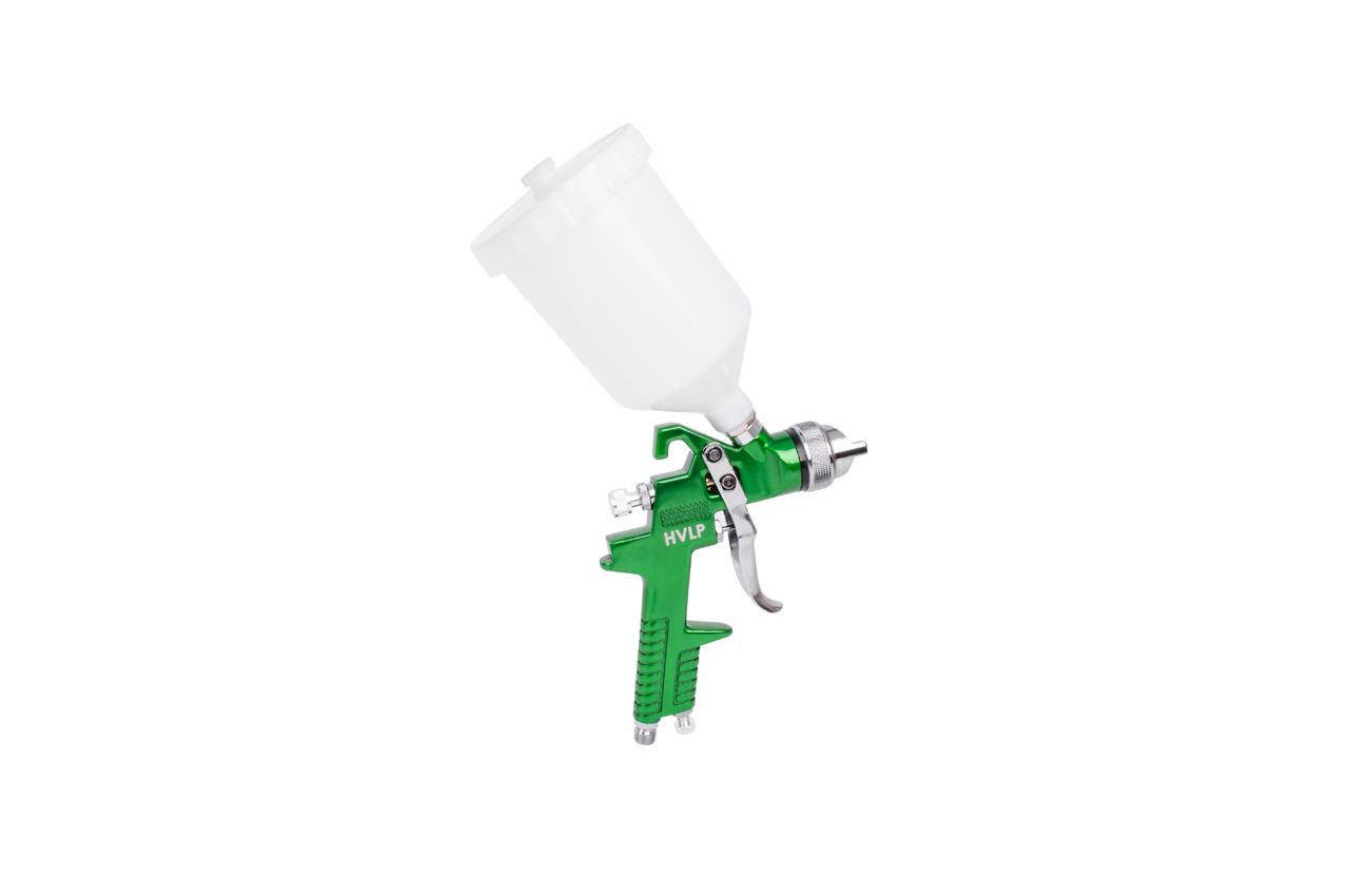 Пневмопистолет лакокрасочный HVLP Intertool - верхний бак 600 мл x 1,3 мм, с регулятором