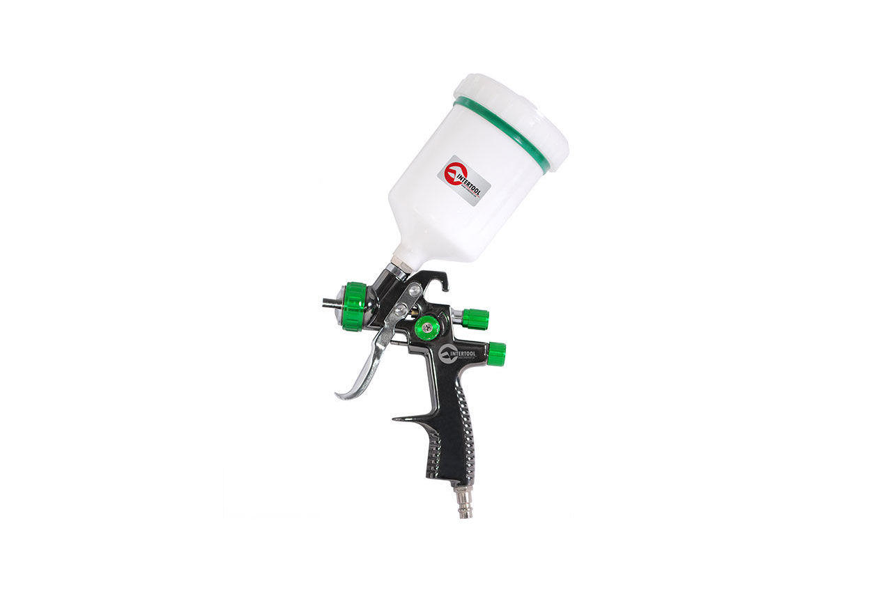 Пневмопистолет лакокрасочный LVLP Intertool - верхний бак 600 мл x 1,3 мм PT-0132