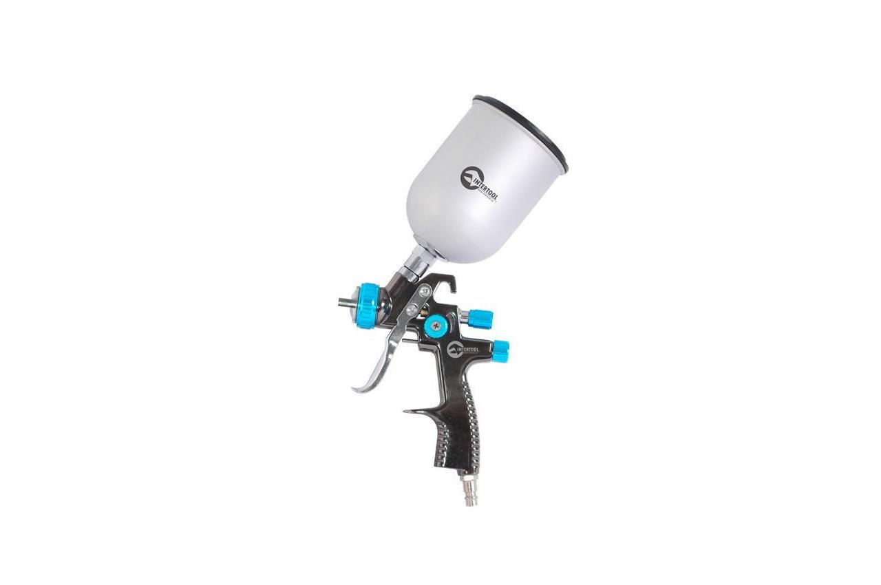 Пневмопистолет лакокрасочный LVLP Intertool - верхний бак 600 мл x 1,4 мм PT-0133