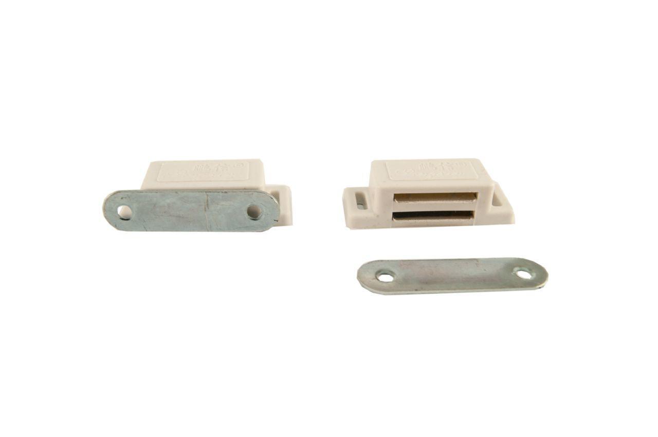Магнит мебельный FZB - 45 мм, белый