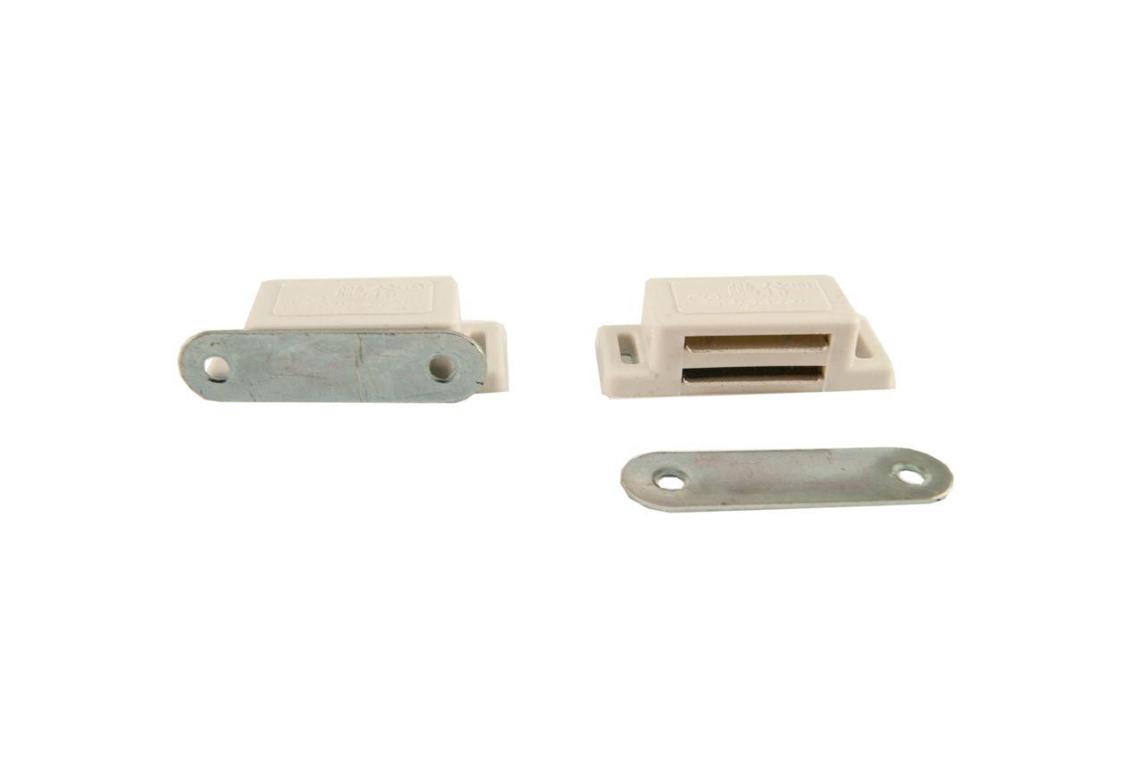 Магнит мебельный FZB - 57 мм, белый
