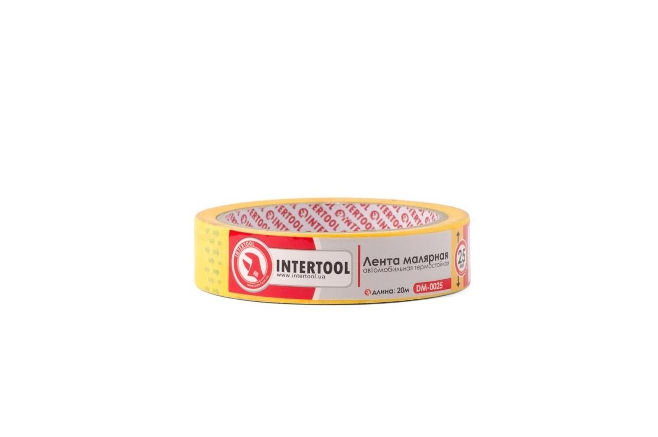 Лента малярная Intertool - 25 мм x 20 м, желтая термостойкая
