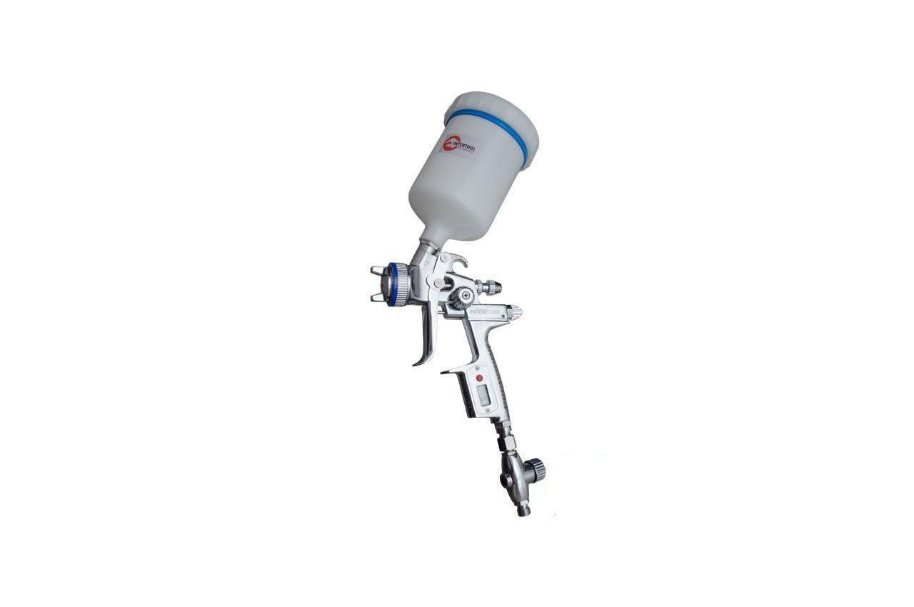 Пневмопистолет лакокрасочный HVLP-II Intertool - верхний бак 600 мл x 1,3 мм PT-0105D