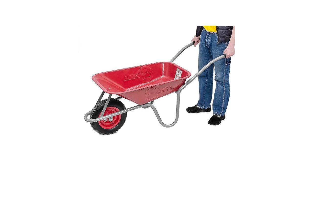 Тачка садово-строительная Intertool - 65 л x 130 кг, x 1 колесо (3,5-8,0)