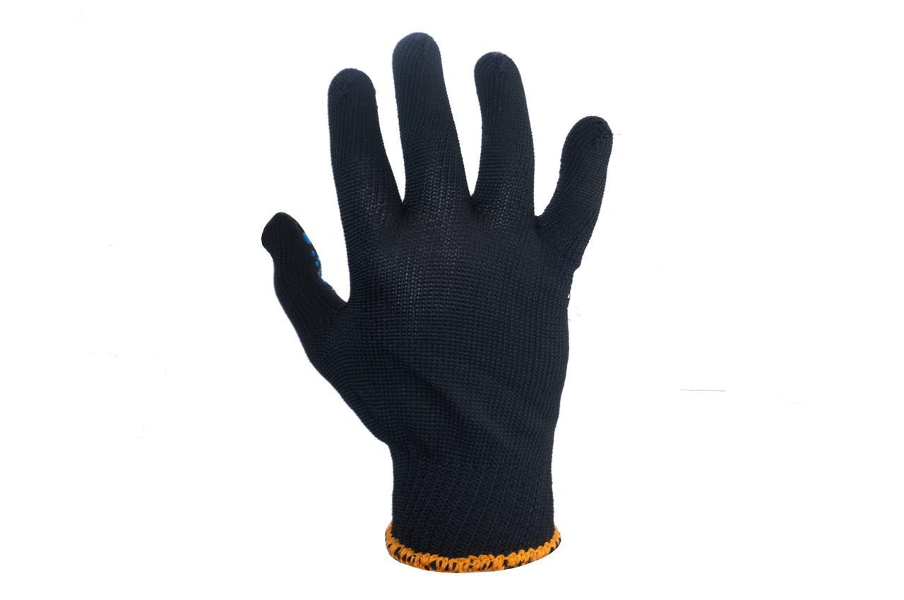 """Перчатки Intertool - синтетика с точкой 55г черные 10"""" 12 шт."""