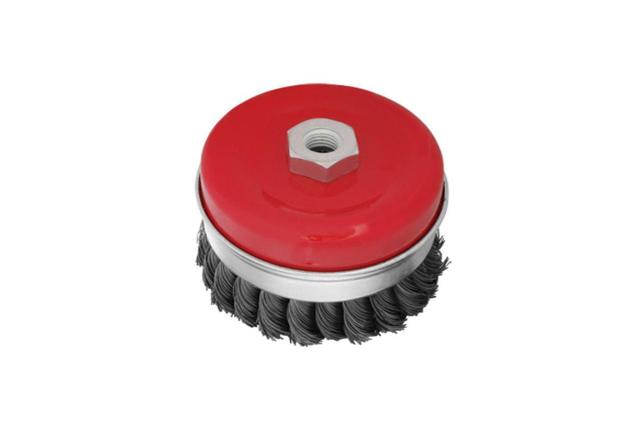 Щетка торцевая Intertool - 100 мм, плетеная усиленная