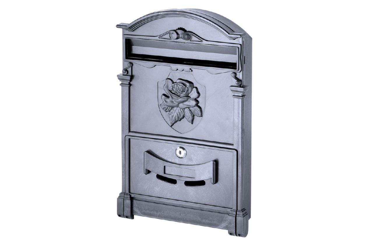 Почтовый ящик Vita - роза (черный), PO-0018