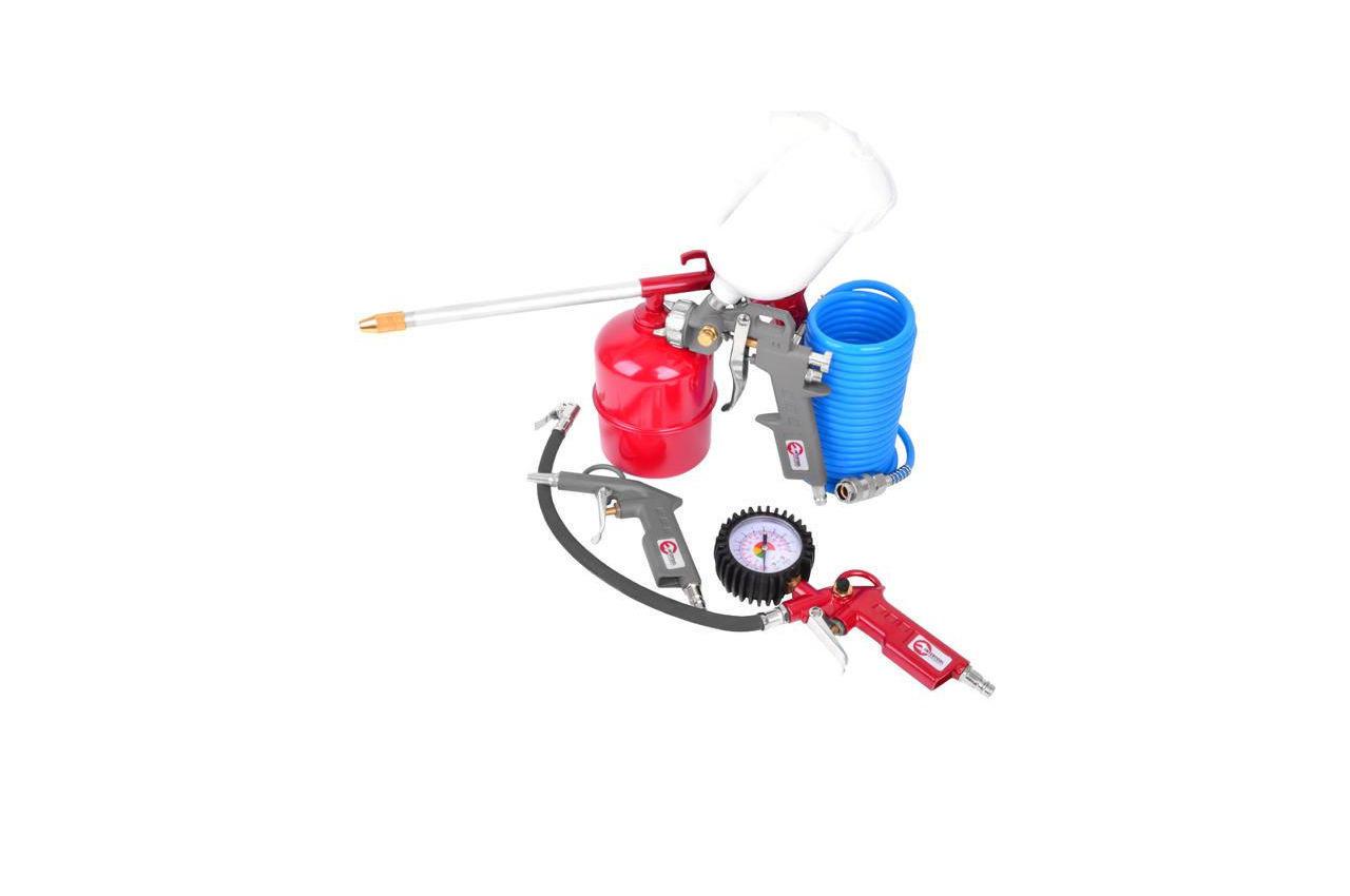 Набор лакокрасочный Intertool - верхний бак 600 мл, шланг полиуретановый (5 шт.), PT-1502
