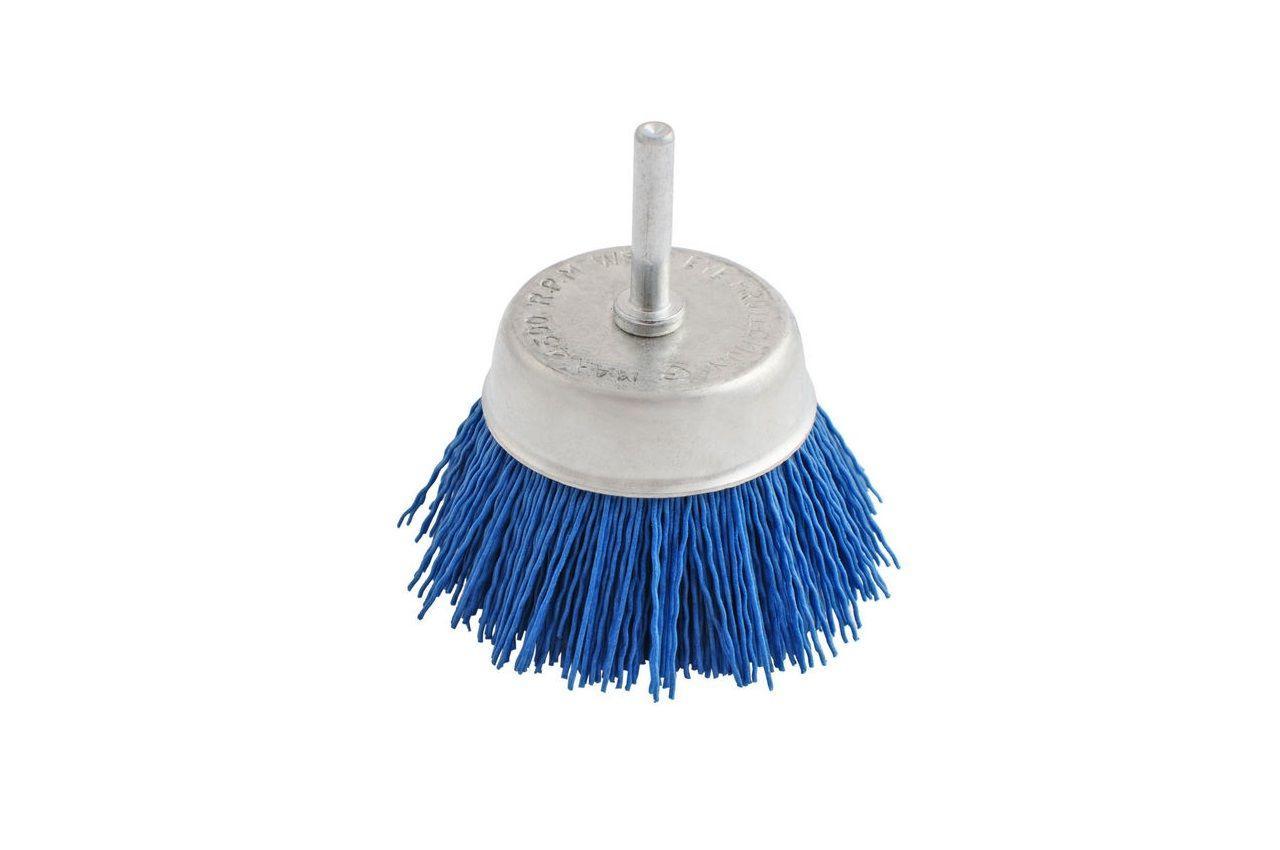 Щетка пиранья торцевая на дрель Pilim - 70 мм x P180 синяя