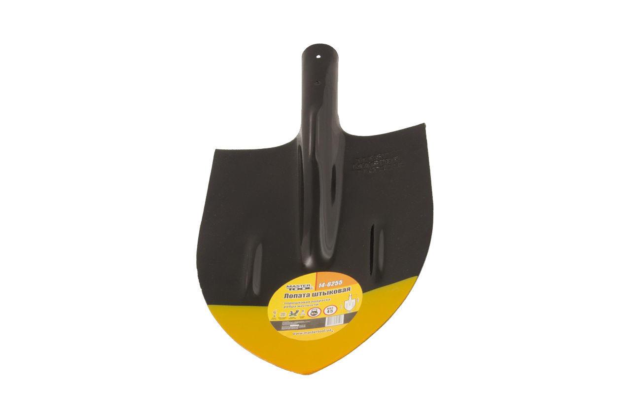 Лопата штыковая Mastertool - 210 x 290 мм x 0,7 кг, черная, 14-6255