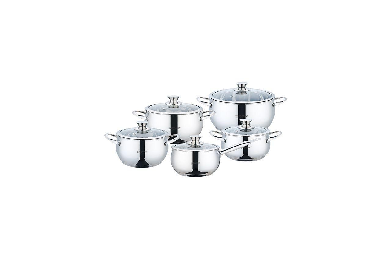 Набор посуды нержавеющий Maestro - 2,1 x 3,4 x 4,2 x 5 x 2,1 л (5 шт.) MR-3022-10