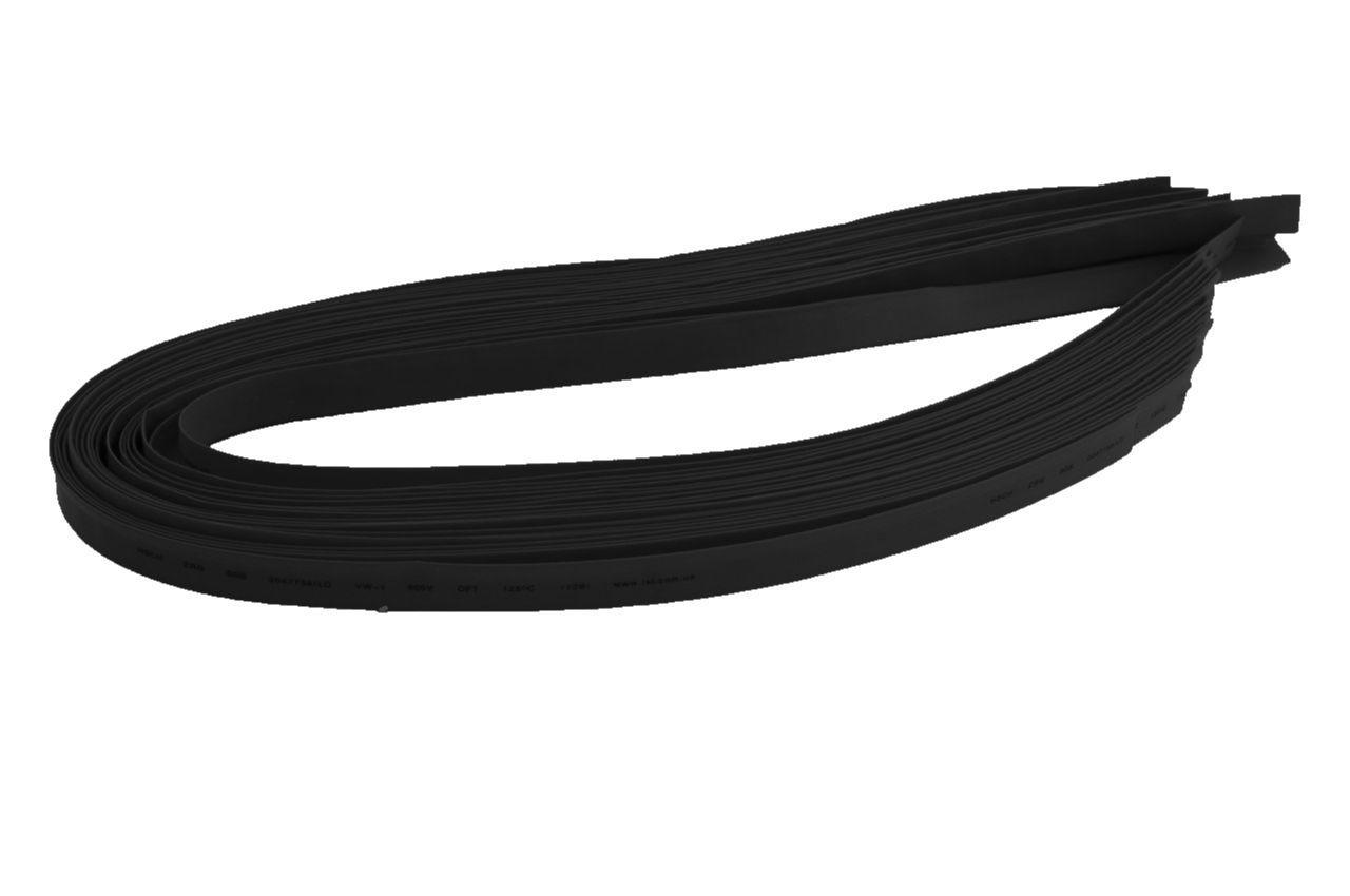 Трубка термоусадочная Apro - 1 мм x 30 м, черная, 28668